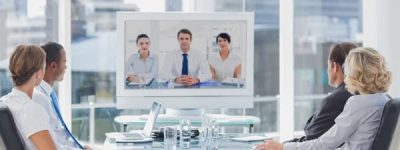 business team video conferencing